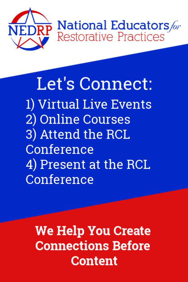 Virtual Training and the RCL Conference from NEDRP - National Edcuators for Restorative Practices